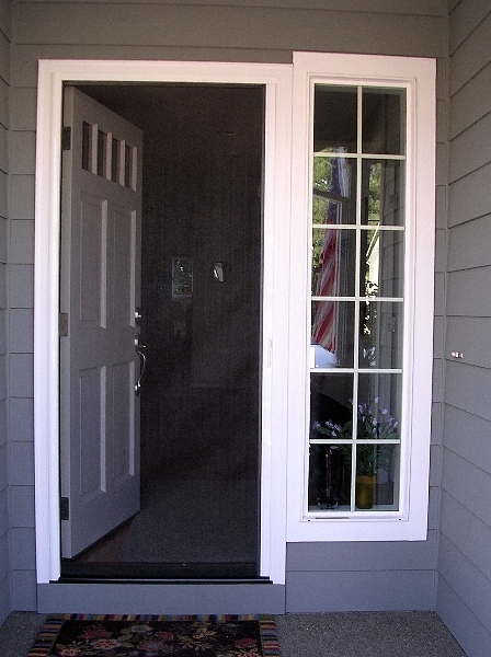 Custom retractable screens shades ebay stores for Retractable front door screen