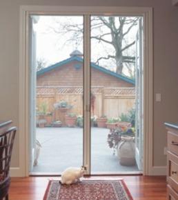 Retractable screen door out swing door for Retractable screen door for outswing door