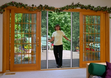 Retractable Screen Door  Double Slider