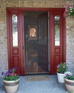 Incroyable Above: Is A Single Door Screen System Installed On A Front Door, This Was  Custom Colored For This Application.