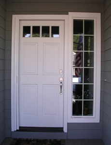 Entry Retractable Screen Door White ...