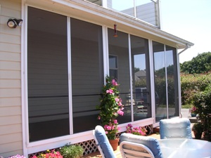 Porch screen photo gallery for Retractable screen porch systems