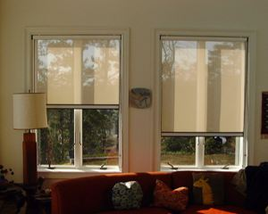 Blackout shade solar shade screen photo gallery for Best window treatments for casement windows